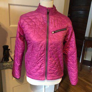 Obermeyer Ladies 8 Pink Quilted Ski Snow Jacket